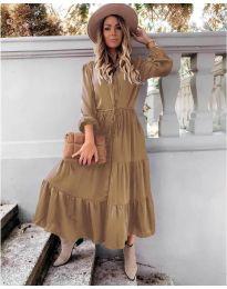 Дълга рокля  в  бежово - код 5150