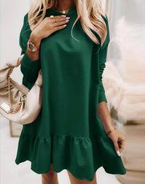 Свободна дамска рокля в зелено - код 9376