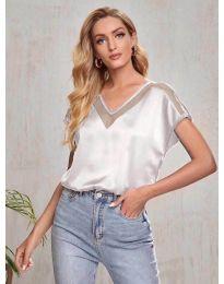Атрактивна дамска тениска в светлосиво - код 5754