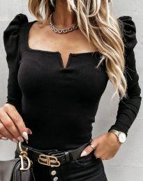 Изчистена дамска блуза в черно - код 12115