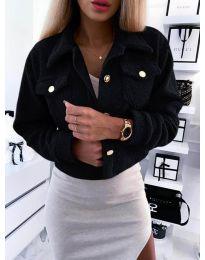 Дамско късо палто  в черно - код 9495
