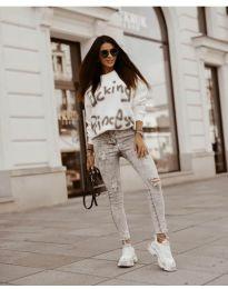 Дамска блуза в бяло - код 41488
