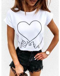 Дамска тениска в бяло - код 2266