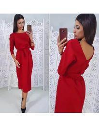 Елегантна рокля в червено - код 974