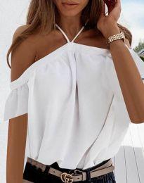 Атрактивна дамска блуза в бяло - код 4253