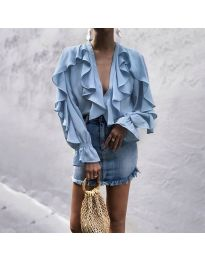 Елегантна блуза в светло синьо - код 9051