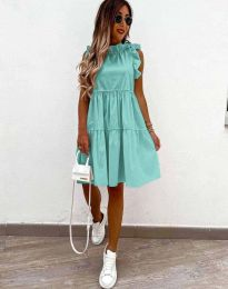 Феерична рокля в цвят мента - код 2663