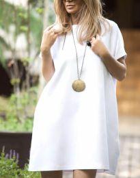 Свободна рокля в бяло - код 6332