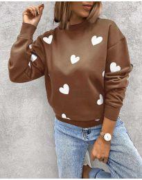 Дамска блуза с ефектен десен - код 3280 - 5