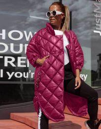 Модерно дамско яке в цвят бордо - код 0475