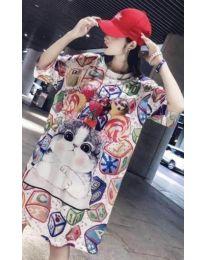 Ежедневна рокля със свеж десен - код 441