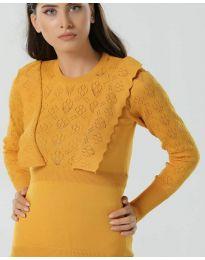 Дамска блуза в цвят горчица - код 2214
