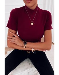 Дамска блуза в бордо - код 411