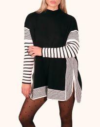 Дамска туника в черно и бяло - код 0798 - 1