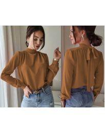 Дамска блуза в кафяво - код 833