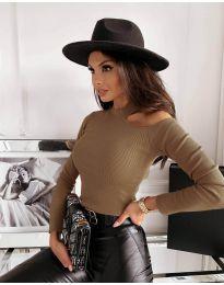 Дамска блуза в кафяво - код 4413