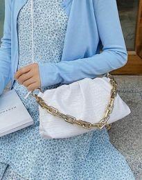 Ефектна дамска чанта в бяло - код B395