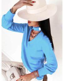 Дамска блуза в светлосиньо - код 2133