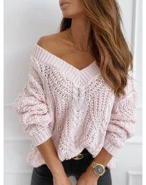 Дамски пуловер в розово - код 407