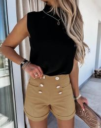 Къси панталонки в цвят капучино - код 6815