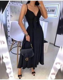 Дълга дамска рокля в черно - код 2239