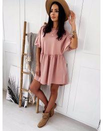 Елегантна къса рокля в розово - код 789