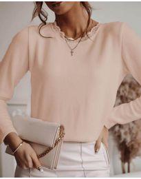 Атркактивна дамска блуза в пудра - код 1580