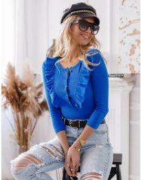 Дамска блуза в синьо - код 9792