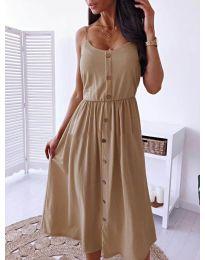 Изчистена рокля цвят кафяво - код  5057