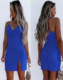 Елегантна дамска рокля в синьо - код 8979