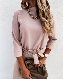 Дамска блуза в розово - код 9432