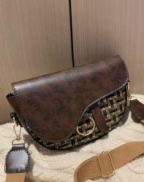 Атрактивна дамска чанта в кафяво - код B297
