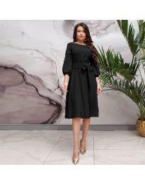 Елегантна рокля в черно - код 4571