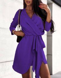 Дамска рокля в тъмнолилаво - код 2879
