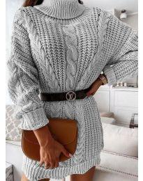 Дамска рокля в сиво - код 6071