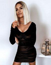 Къса елегантна рокля в черно - код 12080