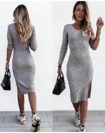 Изчистена рокля в сиво - код 884