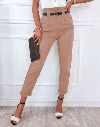 Елегантен дамски панталон в пудра - код 4655