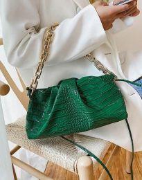 Ефектна дамска чанта в зелено - код B395