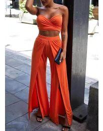 Елегантен дамски сет в оранжево  - код 0335