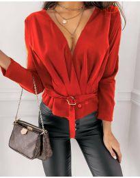 Атрактивна дамска блуза в червено - код 5525