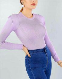 Дамска блуза в светлолилаво - код 374