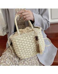 Ефектна дамска чанта в шампанско - код B536
