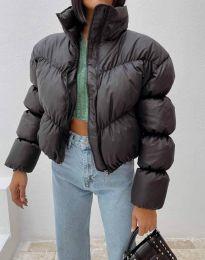 Късо дамско яке в черно - код 0017