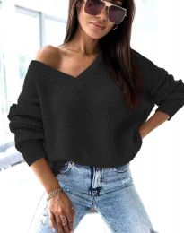 Дамски пуловер в черно - код 0283