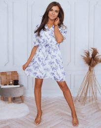 Дамска рокля с флорален десен - код 4082 - 4