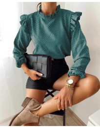 Дамска блуза в зелено - код 5455
