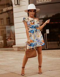 Дамска рокля с флорален десен - код 2503 - 7