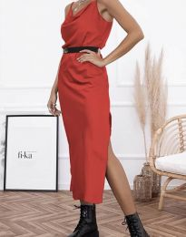 Дамска рокля в червено - код 6231