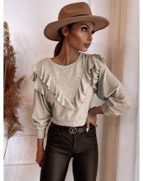Елегантна блуза в бежово - код 7200